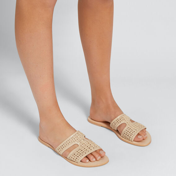 Tess Woven Slide  NUDE  hi-res