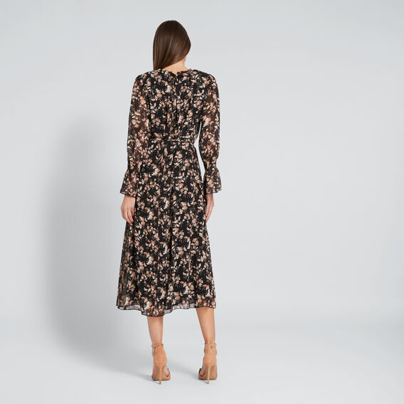 Textured Floral Dress  FLORAL  hi-res