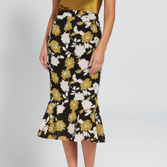 Fit And Flare Skirt  FLORAL  hi-res