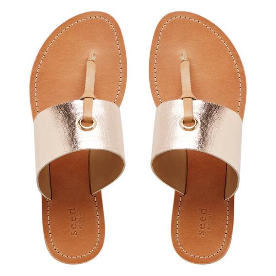 T-Bar Sandal  ROSE GOLD  hi-res