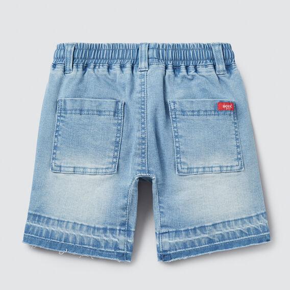 Raw Hem Denim Short  BLUE WASH  hi-res