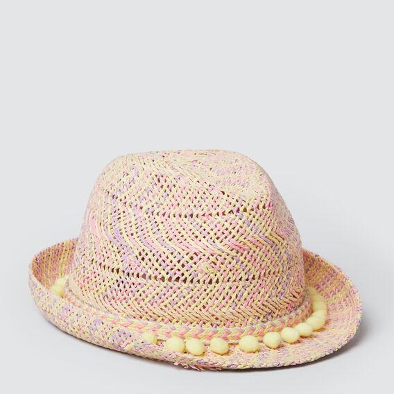 Pastel Weave Fedora  MULTI  hi-res