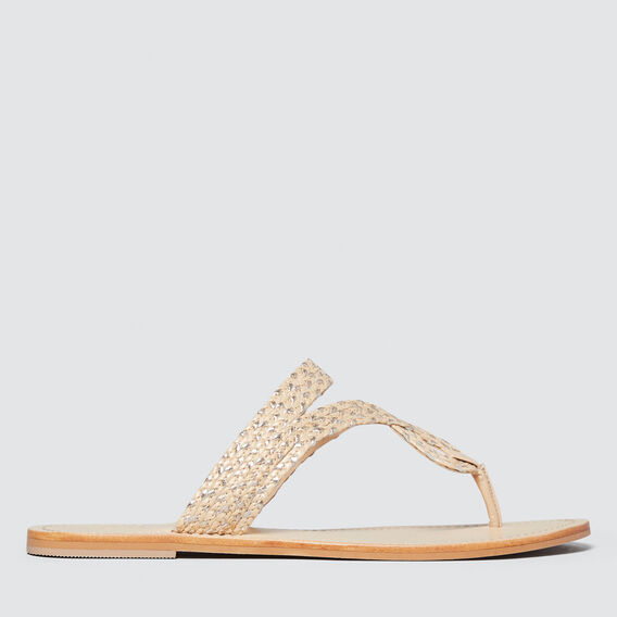 Amelia Braided Slide  GOLD/NATURAL  hi-res