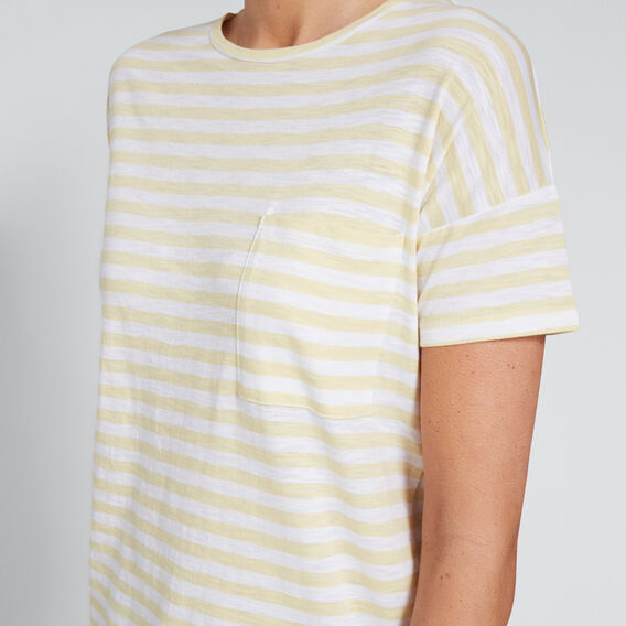 Dipped Tee  YELLOW/ WHITE  hi-res