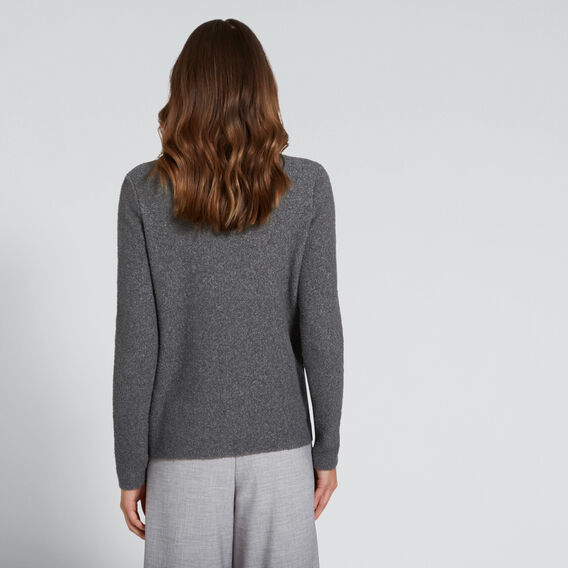 Oversized Neck Knit  CHARCOAL MARLE  hi-res