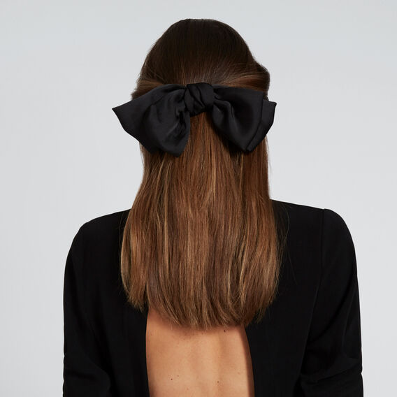 Oversized Bow  BLACK  hi-res