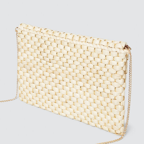 Belle Woven Clutch  GOLD/NATURAL  hi-res