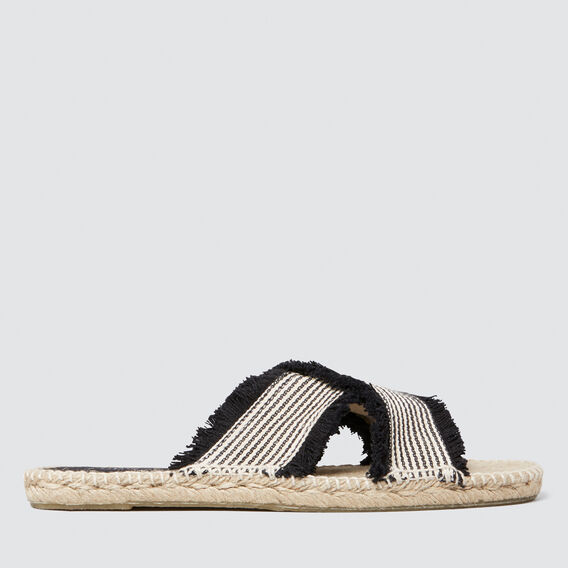 Sadie Cross-Over Slide  STRIPE  hi-res
