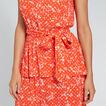 Peplum Detail Dress  FLORAL  hi-res