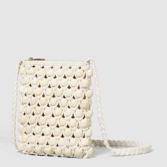 Crochet Beaded Sling  CREAM  hi-res