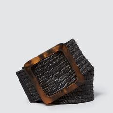 Square Buckle Belt  BLACK  hi-res