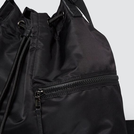 Drawstring Tote  BLACK  hi-res