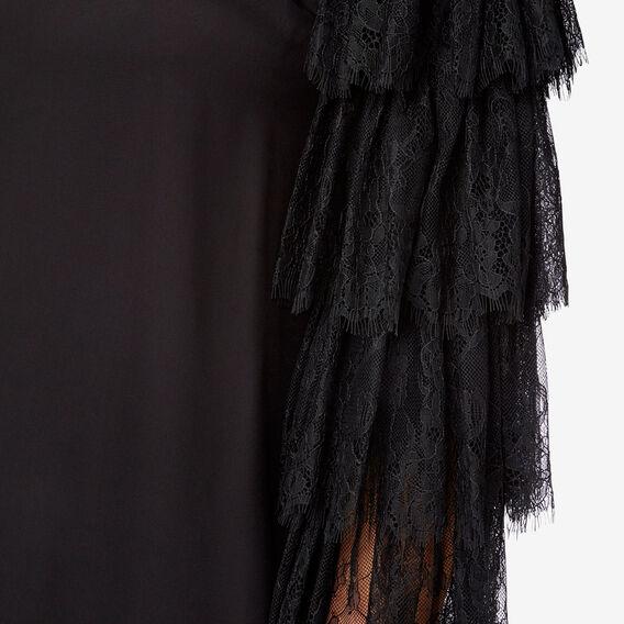 Off Shoulder Lace Top  BLACK  hi-res