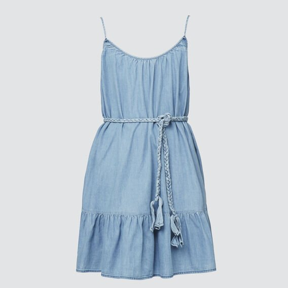 Flounce Dress  SKY BLUE  hi-res