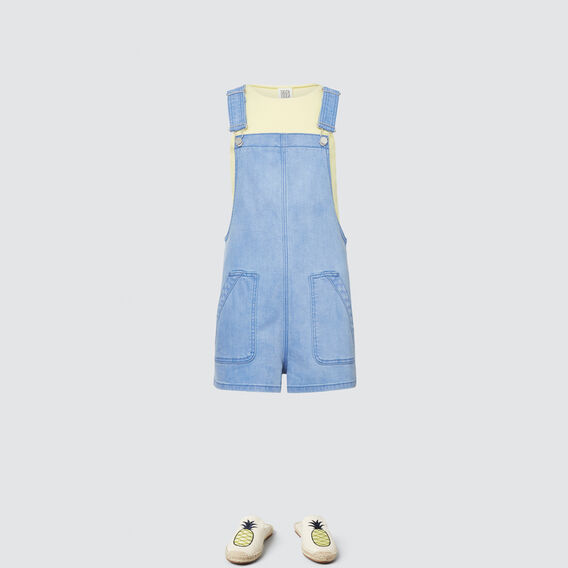 Flat-Front Dungaree  BRILLIANT BLUE WASH  hi-res