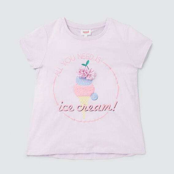 Ice Cream Tee  LILAC  hi-res