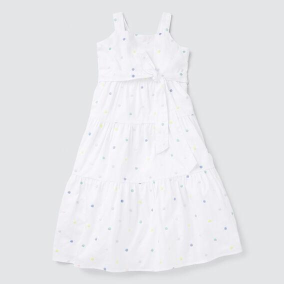Spot Midi Dress  WHITE  hi-res
