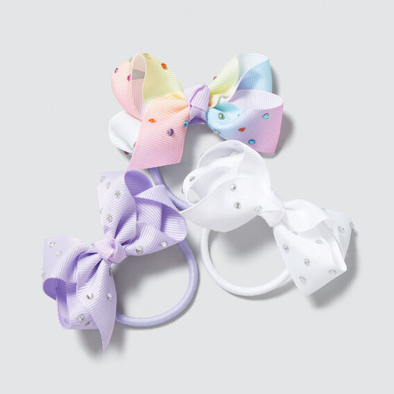 Jewel Bow Trio Elastics  LILAC  hi-res