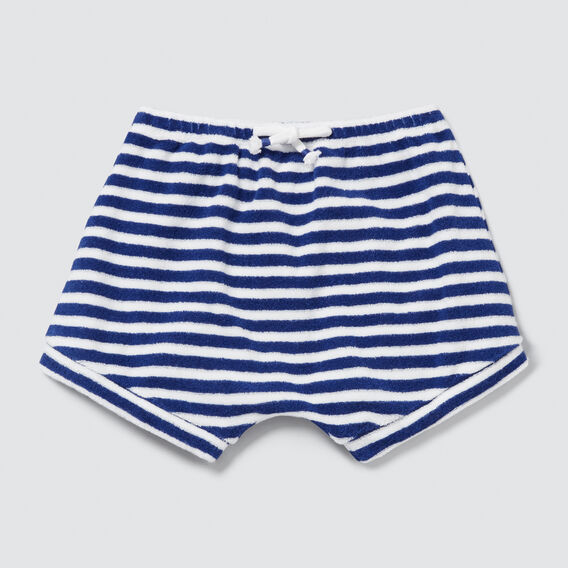 Stripe Towelling Short  DEEP COBALT  hi-res