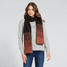 Gradient Knit Scarf  NAVY/ DUSTY ROSE  hi-res