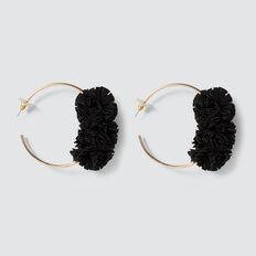 Ruffle Hoops  BLACK  hi-res
