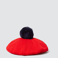Knitted Beret  RED  hi-res