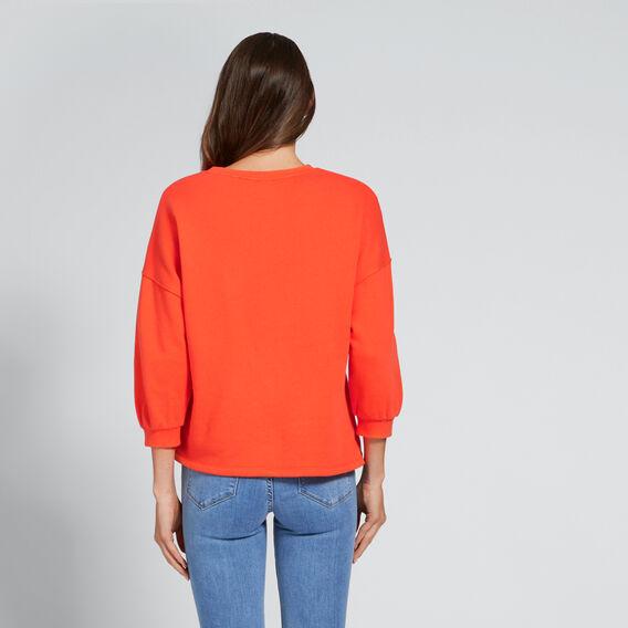 Blouson Sleeve Sweat  SPANISH RED  hi-res