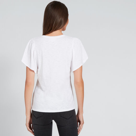 Flutter Sleeve Tee  WHISPER WHITE  hi-res