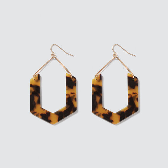 Chain Tort Earrings  GOLD/TORT  hi-res