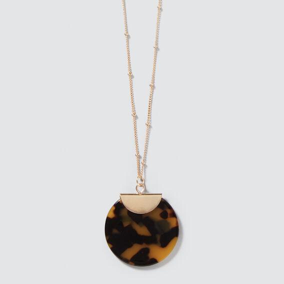 Tort Pendant Necklace  GOLD/TORT  hi-res