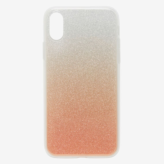 Gradient Glitter Phone Case X  ROSE GOLD/SILVER  hi-res