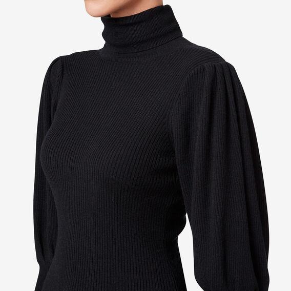 Blouson Sleeve Knit  BLACK  hi-res