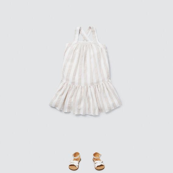 Stripe Dress  WHITE/NATURAL  hi-res