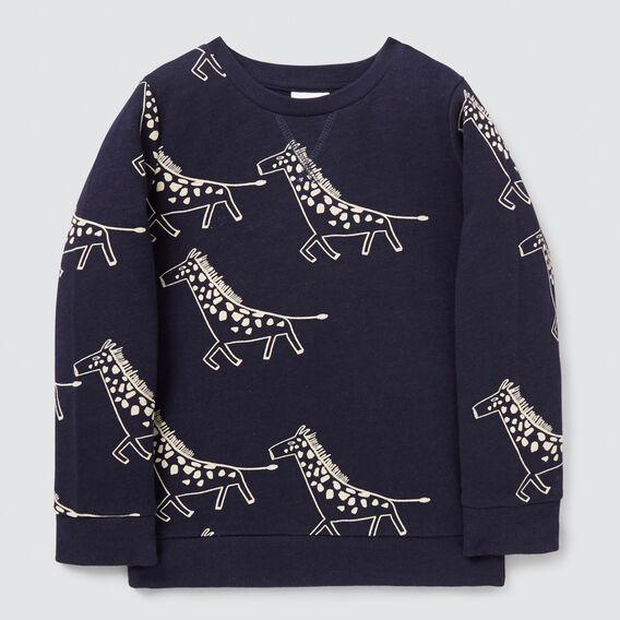 Giraffe Yardage Sweater  MIDNIGHT BLUE  hi-res