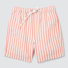 Seersucker Stripe Short  GRAPEFRUIT  hi-res