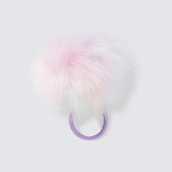 Rainbow Pom Pom Hair Elastic  MULTI  hi-res