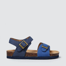 Colour Block Buckle Sandal  BLUE  hi-res