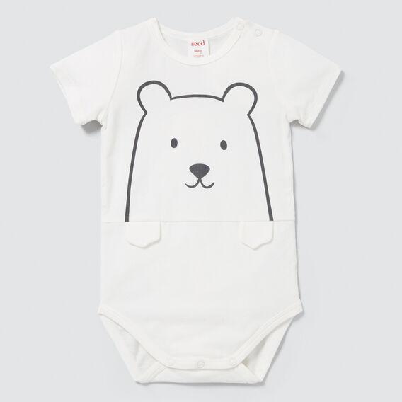 Novelty Bear Bodysuit  CANVAS  hi-res