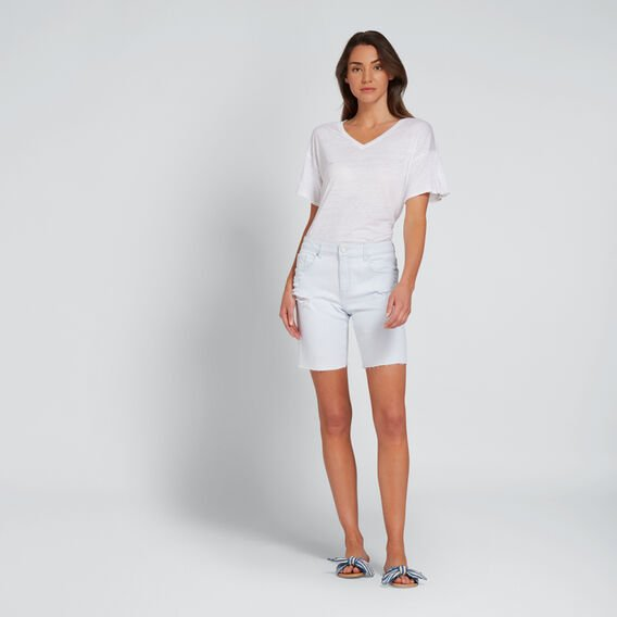 Pleat Sleeve Tee  WHISPER WHITE  hi-res