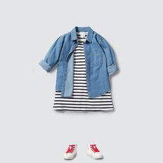 Stripe Pocket Dress  NAVY/CANVAS  hi-res