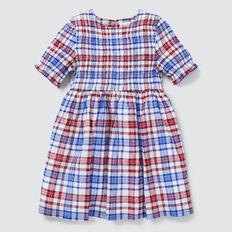 Check Dress  COBALT  hi-res