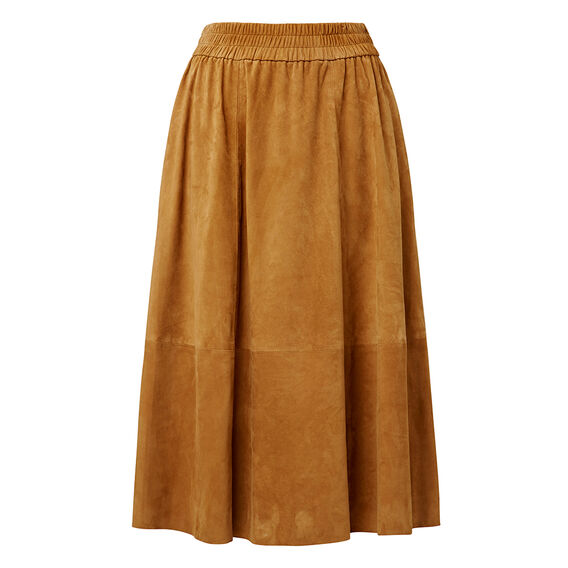 Suede Swing Skirt  TOFFEE  hi-res