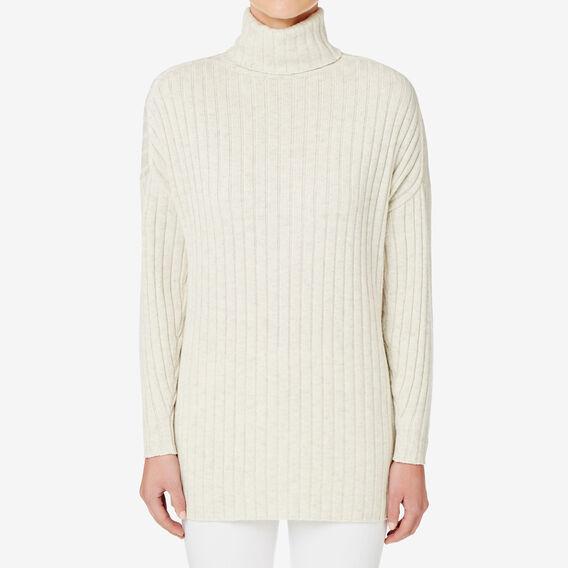 Split Hem Rib Sweater  VINTAGE CREAM  hi-res