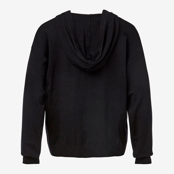 Hooded Knit Top  BLACK  hi-res