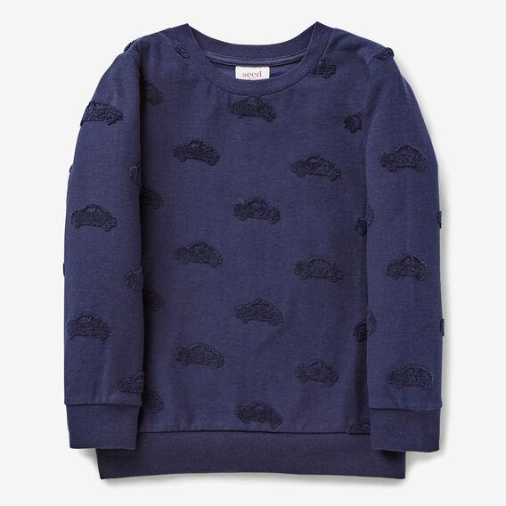 Textured Car Sweater  MIDNIGHT BLUE  hi-res