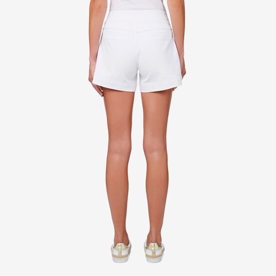 Stitch Detail Short  WHISPER WHITE  hi-res