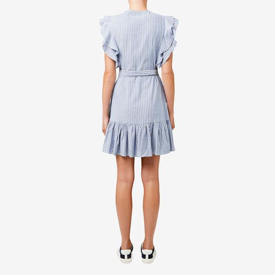 Wrap Stripe Dress  STRIPE  hi-res