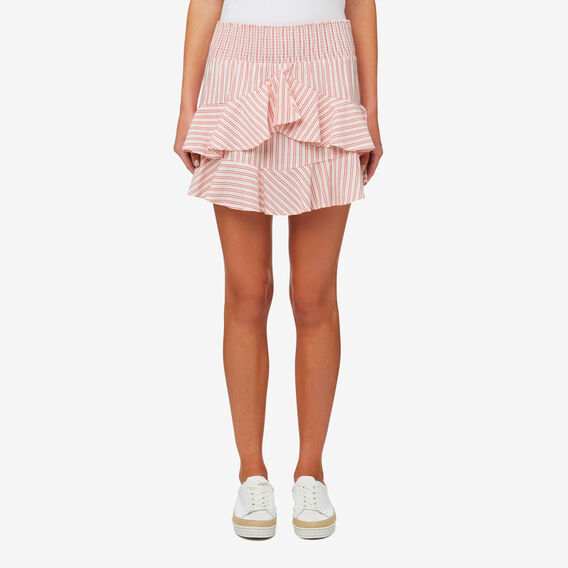 Micro Stripe Skirt  DUSTY RED STRIPE  hi-res