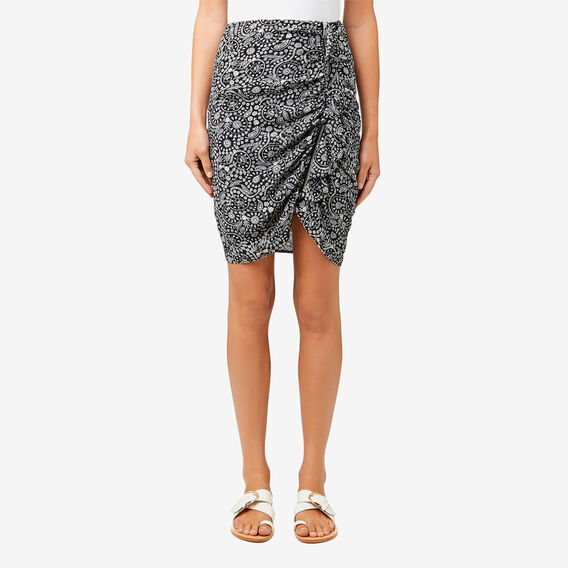 Asymmetric Ruched Skirt  PAISLEY  hi-res