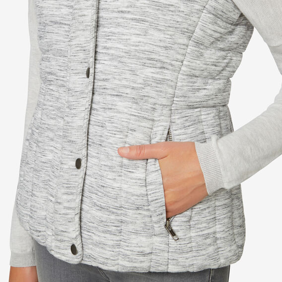 Panel Detail Vest  LIGHT GREY MARLE  hi-res